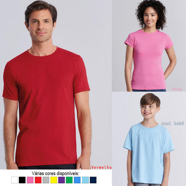 T-shirt algodão 150g ring-spun (Homem/Mulher/Criança)