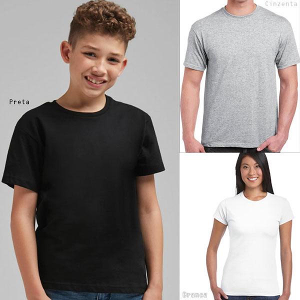 T-shirt algodão 150g ring-spun unisex