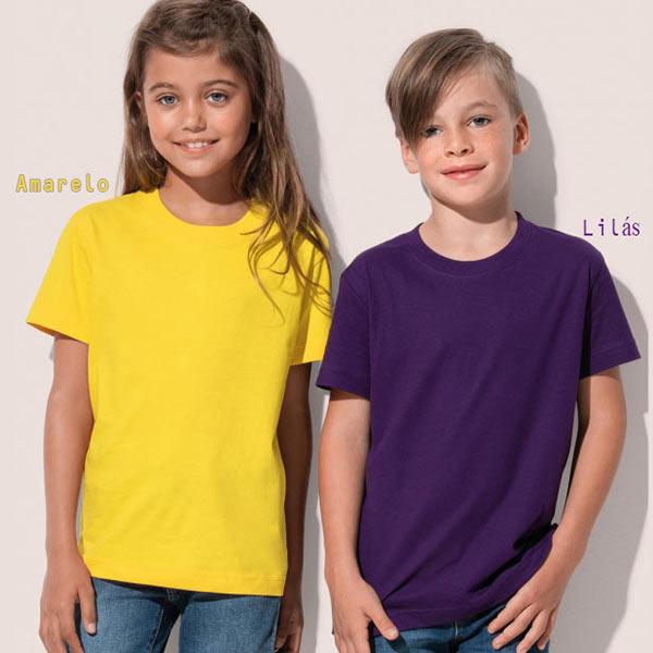 T-shirt algodão 150g ring-spun (Homem/Mulher/Criança) várias cores