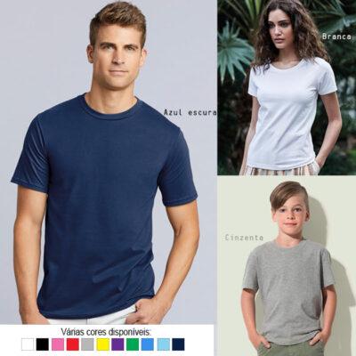 T-shirt algodão 180g ring-spun