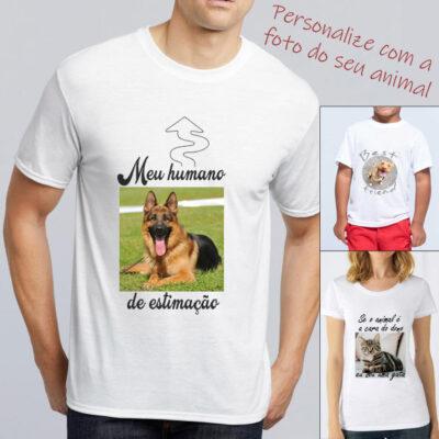 T-shirt animal de estimação personalizada