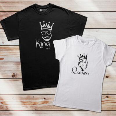 T-shirt King e Queen homem e mulher commprar em Portugal