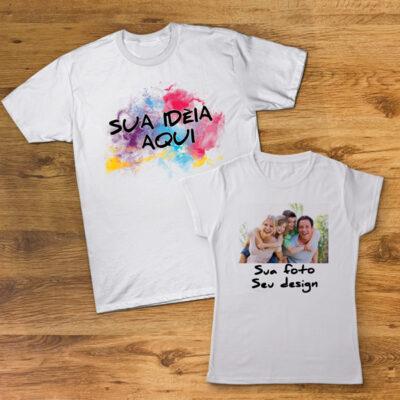 T-shirt personalizada com sublimação 100% poliéster com toque de algodão