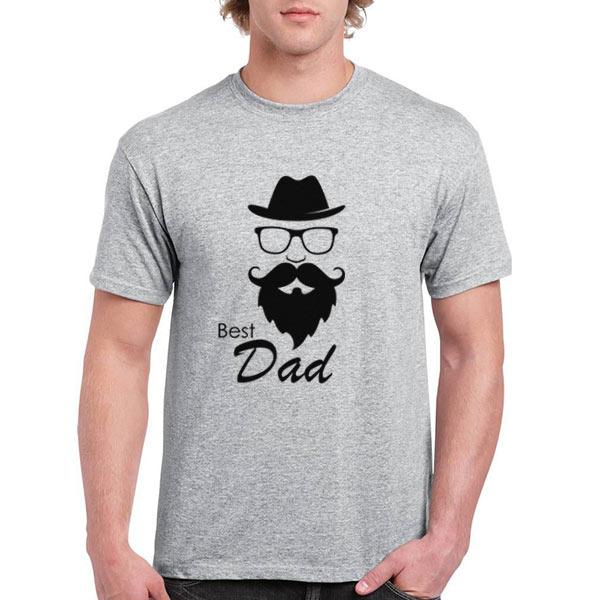 T-shirt Best Dad cinza