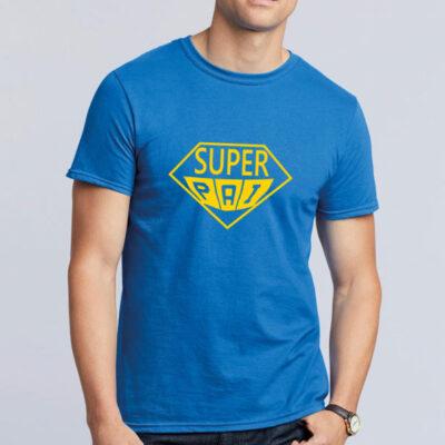 T-shirt Super Pai azul