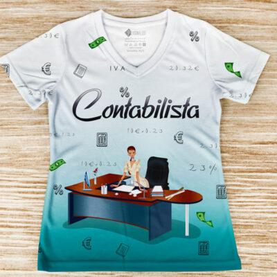 T-shirt Contabilista profissão/curso frente