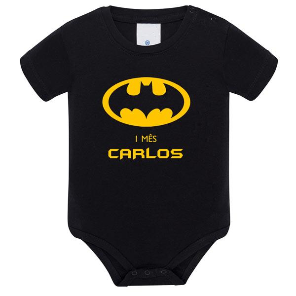Body Bebé Super-Heróis Mesversário batman