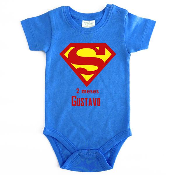 Body Bebé Super-Heróis Mesversário superman