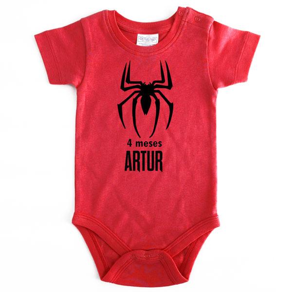 Body Bebé Super-Heróis Mesversário homem aranha