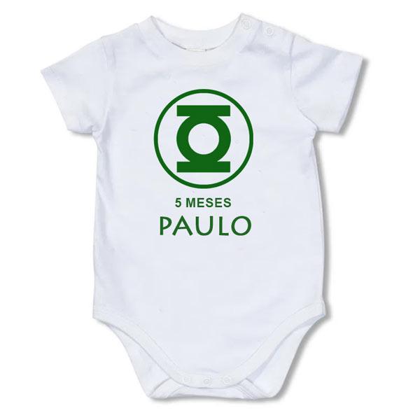 Body Bebé Super-Heróis Mesversário lanterna verde