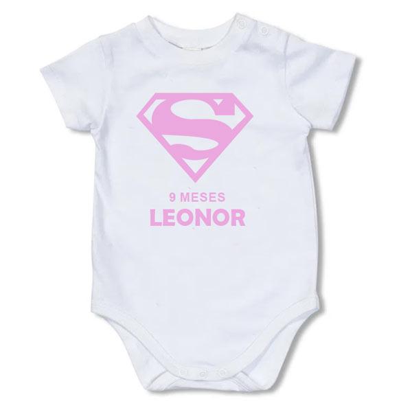 Body Bebé Super-Heróis Mesversário branco
