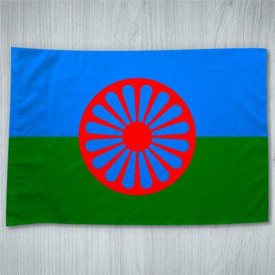 Bandeira Cigana Povo rom em Portugal