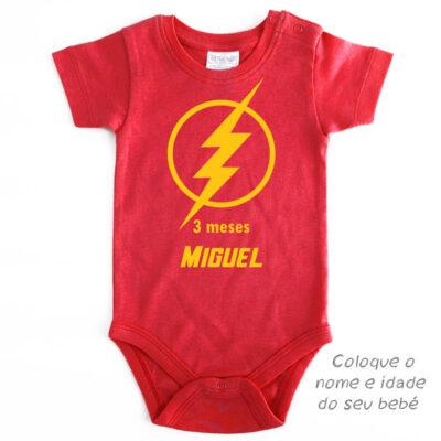 Body Bebé Flash Mesversário personalizado preço