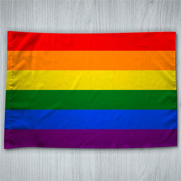 Bandeira Orgulho Gay LGBT arco-íris ou personalizada 70x100cm preço