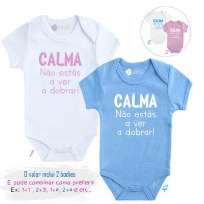 Conjunto Bebés Gémeos Bodies Calma