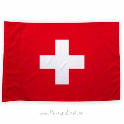 Bandeira Suíça ou personalizada 70x100cm