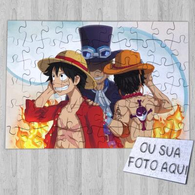 Puzzle Luffy Ace Sabo personalizado asce