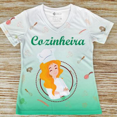 T-shirt Cozinheira profissão/curso em portugal
