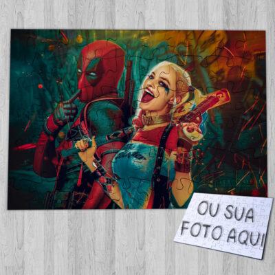 Puzzle Deadpool e Arlequina