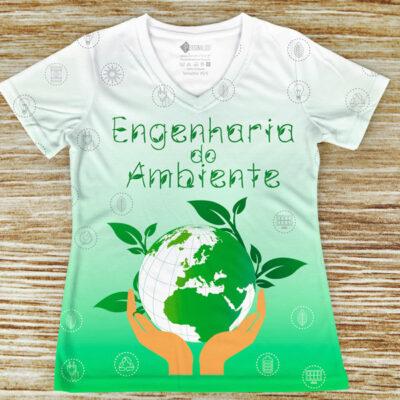 T-shirt Engenharia do Ambiente curso em portugal