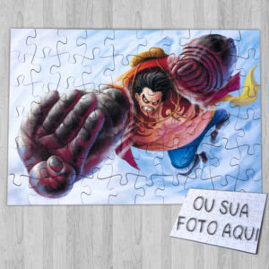 Puzzle Luffy Gear Fourth Boundman ou personalizado anime