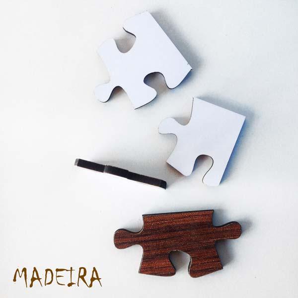 Puzzle personalizado com foto madeira foto
