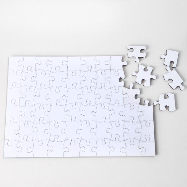 Puzzle personalizado com foto branco