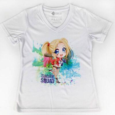 T-shirt Harley Quinn explosão de cores comprar em Portugal
