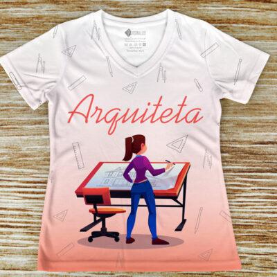 T-shirt Arquiteta profissão/curso arquitetura