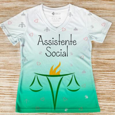 T-shirt Assistente Social profissão camiseta