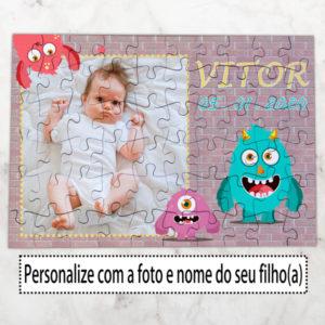 Puzzle com foto e nome do seu filho(a) personalizado