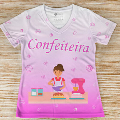 T-shirt Confeiteira profissão/curso preço