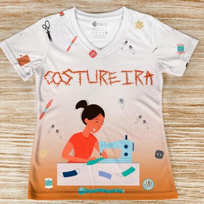 T-shirt Costureira profissão/curso frente