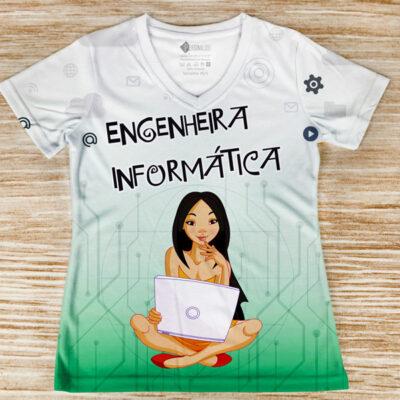 T-shirt Engenheira Informática profissão/curso