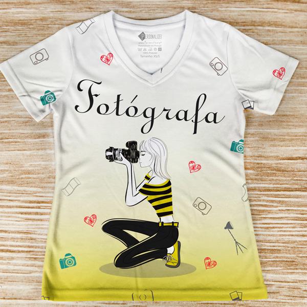 T-shirt Fotógrafa profissão/curso
