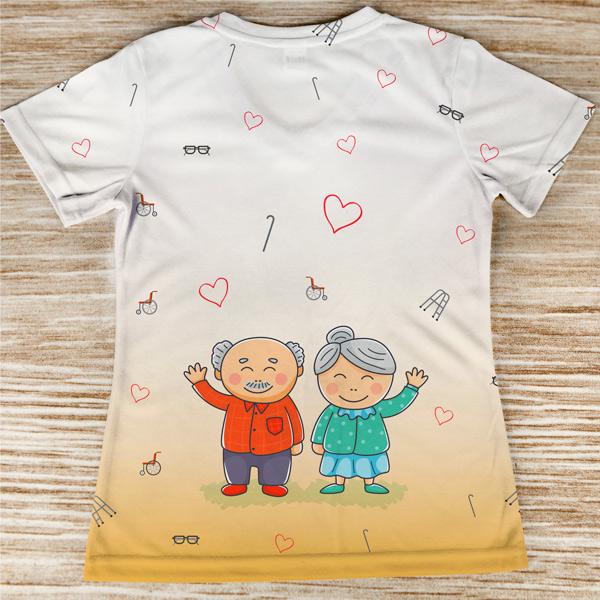 T-shirt Geriatria profissão costas