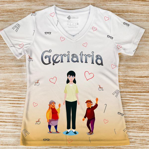 T-shirt Geriatria profissão frente