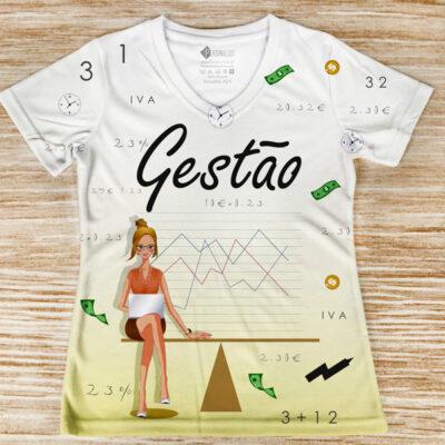 T-shirt Gestão profissão/Curso frente