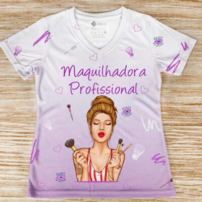 T-shirt Maquilhadora Profissional profissão/curso preço