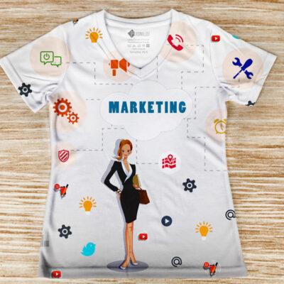 T-shirt Marketing profissão/curso