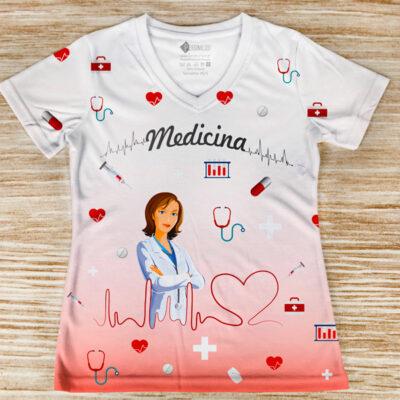 T-shirt Medicina profissão/curso frente