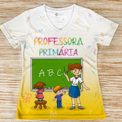 T-shirt Professora Primária profissão/curso