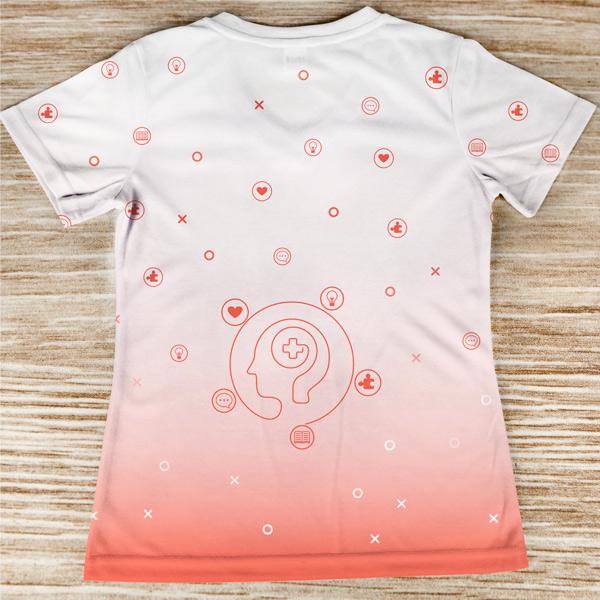 T-shirt Psicóloga profissão/curso costas