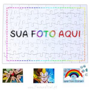 Puzzle personalizado com foto - Madeira ou Cartão