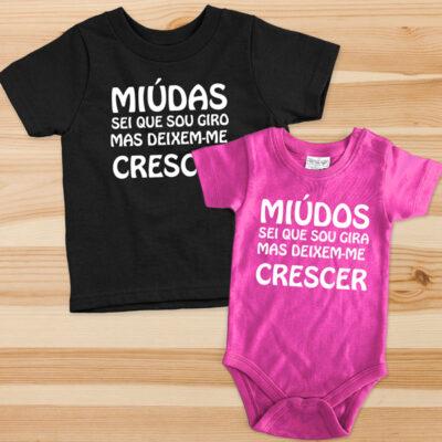 T-shirt Body Miúdas(os) sei que sou giro(a)... comprar