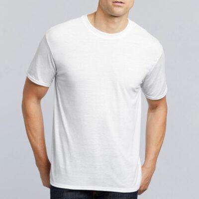 T-shirt 100% poliéster 190g com toque de algodão