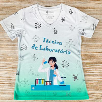 T-shirt Técnica de Laboratório profissão/curso