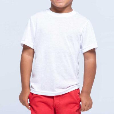 T-shirt Criança 100% poliéster branca