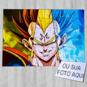 Puzzle Vegeta DBZ ou personalizado dragon ball