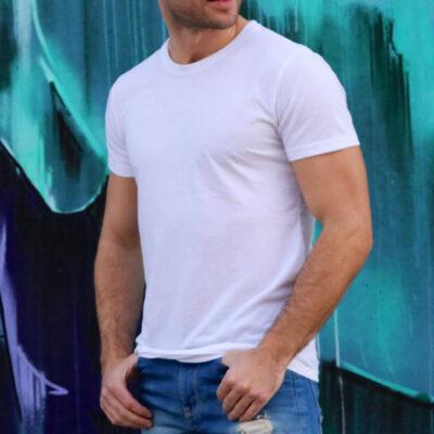 T-shirt 100% poliéster 180g com toque de algodão para sublimar